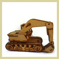 3D Puzzle Craft Kit - Excavator