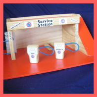 Service Station Wooden