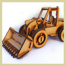3D Puzzle  Craft Kit - Bulldozer