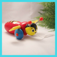 Wooden Buzzy Bee Pull Along