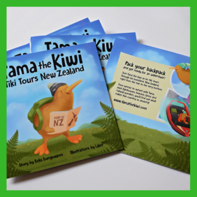 Tama the Kiwi Tiki Tours New Zealand Book
