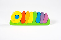 Wooden Rainbow Caterpillar Puzzle