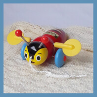 Buzzy Bee Wooden Pull Along
