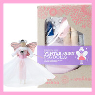Make Your Own Winter Fairy Peg Dolls