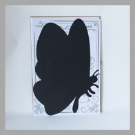 Flexi Butterfly Blackboard with Chalk Pen (WHITE)