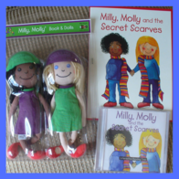 Milly Molly Doll & Secret Scarves Book & Interactive CD ROM